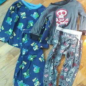 Skull jammies and truck jammies bundle